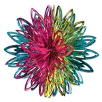 Add a pop of color to any themed party with these Metallic Starburst Balls. The bright, metallic colors of this product make an eye-catching hanging decoration that everyone will love. Each starburst measures 12 inches. 2 per pack.