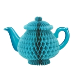 Our light blue Tissue Teapot Centerpiece would certainly add some flair to all the tables at the party, whether be a child's birthday party or an Alice in Wonderland theme party. It stands seven inches tall. Comes one per package.