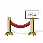Stanchions line the red carpet at major Hollywood events, so bring the stanchions to your awards night or Hollywood theme party! Just write the name on the white section and stand the stanchions up for some classy place cards. Comes four per package.