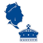 Have yourself a royal party with these Queen Silhouettes. One silhouette is a side silhoutte of a queen, while the other is the royal crown. The design is printed on both sides and the blue and white colors give it a simple elegance.