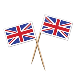 Whether you stick these in some finger foods or use it like a toothpick all night, the Union Jack Food Picks are ready for use! Each food pick measures 2.5 inches and has the Union Jack attached at the tip. There are a total of 50 picks in the package.