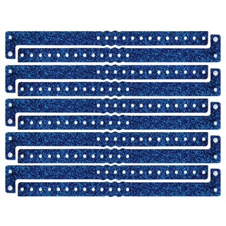 Blue Plastic Sparkle Wristbands