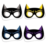 The package comes with one black mask, one black/yellow mask, one black/blue mask and one black/purple mask. Also, wearing this mask can protect your identity, so that people won't know who the superhero actually is. Comes four masks per package.