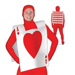 "Whether you're dressing up for Halloween or a poker night, this Plastic Card ""Suit"" Vest is the perfect party outfit. The front of the vest features the ace of hearts, while the back is the typical diamond pattern seen on playing cards. One per package."