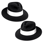 Add sophistication to your outfit without breaking the bank by sporting this fashionable Black Velour Fedora w/Band. The velour coating gives you some added comfort, while the white band gives the hat some extra flair. The hat is a one size fits most