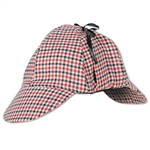 Sherlock Holmes wore a Deerstalker Hat, why can't you!? Our Deerstalker hat features a nice design and includes a lace so that you can tie the ear flaps up if you so choose. Comes one Deerstalker Hat per package.