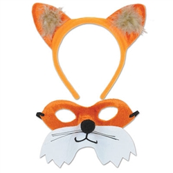 Dress up for Halloween or a woodland friends party with this Fox Headband & Mask Set. It features a lot of orange and this set is easy to pull off. Your friends and family are going to love this! Comes one headband and one mask per package.