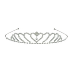 The Royal Rhinestone Tiara is made of metal with clear rhinestones. Fits full adult head size. One size fits most. Contains one per package. Due to hygiene-related concerns, this item is not eligible for return.