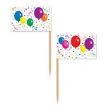 Balloons and Confetti Picks
