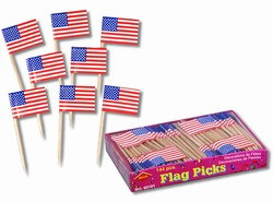 U.S. Flag Picks, 2.5 inches (144/box)