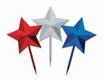 Red, Silver, and Blue Star Picks (8/Pkg)