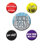 Over The Hill Party Buttons (5/pkg)