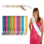 Satin Sashes (choose color)