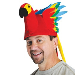 Plush Tropical Parrot Hat