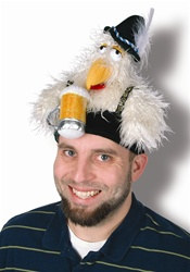 Plush Oktoberfest Chicken Hat