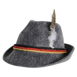 Gray German Alpine Hat