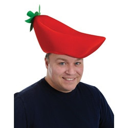 Plush Chili Pepper Hat