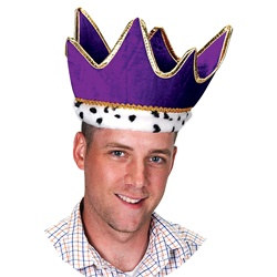 Purple Plush Royal Crown