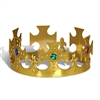 Plastic Jeweled Kings Crown Gold