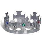 Plastic Jeweled King's Crown (1/pkg)