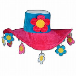 Plush Flower Power Hat