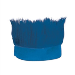 Blue Hairy Headband