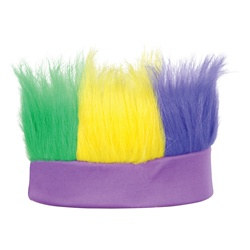 Golden-Yellow, Green and Purple Hairy Headband