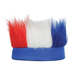 Red, White and Blue Hairy Headband