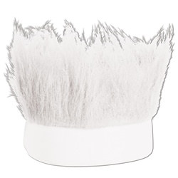 White Hairy Headband