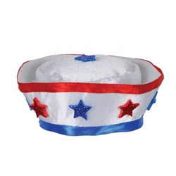 Patriotic Sailor Hat Hair Clip