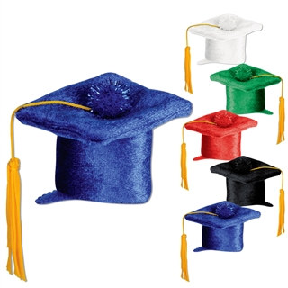 Mini Plush Graduation Cap Hair Clip (Select Color)