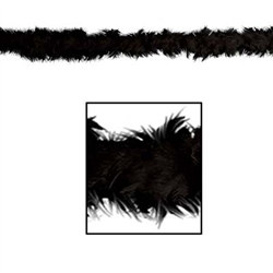 Black Fancy Feather Boa