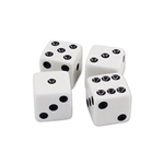 It's not a real poker night or casino themed party if there aren't dice at the party. Well, we have a pack of Dice that comes 10 pieces per package. When the night is over, just put the die in a safe location and use them again! And again, and again!