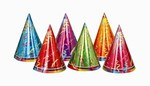 Prismatic Party Hats (6/Pkg)