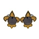 Black and Gold Fleur De Lis Fanci-Frames
