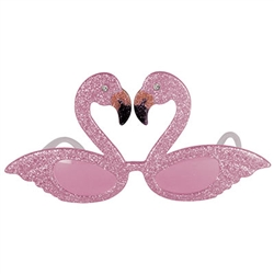 Glittered Flamingo Fanci-Frames