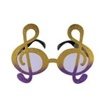 Gold and Purple Glittered G Clef Fanci-Frames