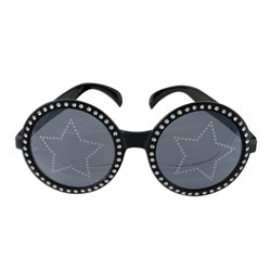 Black and Silver Jeweled Star Power Fanci-Frames