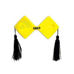 Yellow Graduation Fanci-Frames