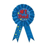 Number 1 Dad Award Button Ribbon