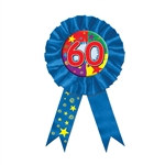 Blue 60 Rosette Award Ribbon