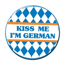 Kiss Me I'm German Button