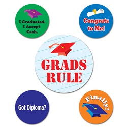 Graduation Party Buttons (5/pkg)