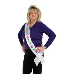 World's Greatest Mom Satin Sash