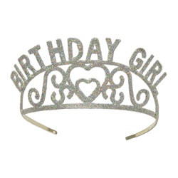 Glittered Birthday Girl Tiara