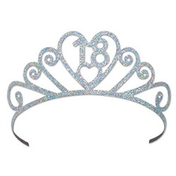 Glittered Metal 18 Tiara