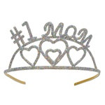"Glittered ""Number 1 Mom"" Tiara"