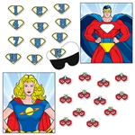 No matter who your child's favorite hero is, you'll be the real Super Hero when you set up this Hero Party Games set.