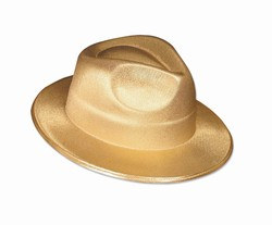 Gold Theatrical Fedora
