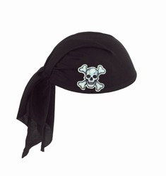Black Pirate Scarf Hat